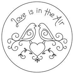 Traceable+Patterns+Designs   FREE Lovebirds Embroidery Pattern - Lovebirds Bluework Pattern