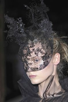 Philip Treacy for Valentino lace mask.