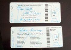 Cruise Boarding Pass | My DIY Boarding Pass Invitations (Cruise Wedding)