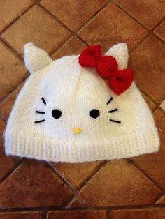 Ravelry: BeachBabyMom's Ha-Lo Kitty Hat