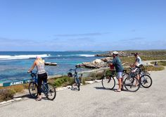 Cycling is a perfect way to explore Rottnest Island. Look at that view!