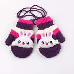 946645fb0ac Lovely Rabbit Patterned Soft Cashmere Kid s Mittens Price  7.70   FREE  Shipping  hashtag4
