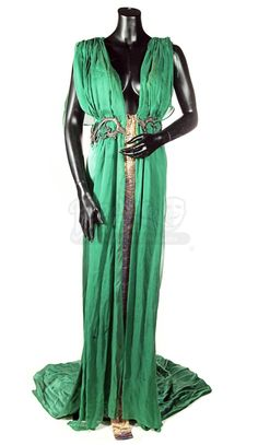 Spartacus Blood and Sand Lucretia Lucy Lawless Premier Green Gown Screen Worn | eBay