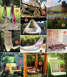 let birds fly: backyard swings