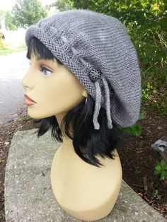 Adjustable Knit Slouchy Hat