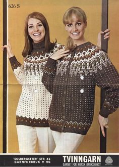 Solbergseter 626 S Norwegian Knitting, Knit Picks, Vintage Sweaters, Color Combinations, Knitwear, Knit Crochet, Knitting Patterns, Retro, Womens Fashion