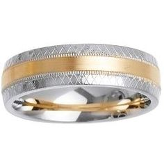 Men's Wedding Band - Two-tone Gold Men's Wedding Band Metal: two-tone gold. gold is the most popular Unique Wedding Bands, Wedding Men, Wedding Rings, Gold Wedding, Dream Wedding, Wedding Ideas, Men's Jewelry Store, Jewels, Engagement Rings