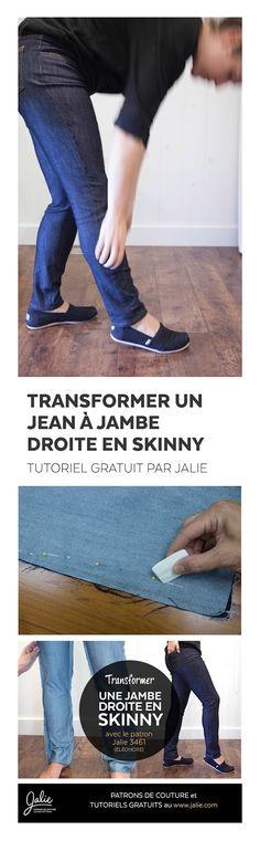 Lorsque nous avons créé le populaire patron de Jeans Éléonore , nous avons choisi un style jambe droite afin qu'il fasse aux mol...