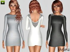Pearl dress by Metens - Sims 3 Downloads CC Caboodle