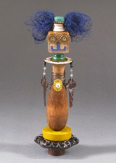 ASSEMBLAGE ART DOLL  Mix media assemblage by CastOfCharacters23, $42.00