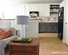 Great before and after Lighten Up: A Kitchen Revealed