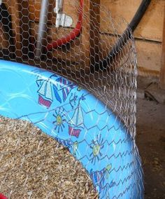 """How To Build a Trouble-Free Chicken Brooder -this is a great idea! Easy to clean, wire is high enough so chicks can stay in brooder until they feather out. You could support the wire mesh with some 1X2's every few feet, and put a cross piece from one side to the other to suspend a heat lamp. I would use a plastic fencing material because it wouldn't be as """"sharp"""" to work with, wouldn't rust and could be disassembled easily for storage or you could reuse it outside for a small enclosure."""