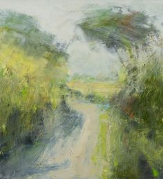 Rain Clearing, East Devon Lane by Hannah Woodman Pastel Landscape, Landscape Artwork, Abstract Landscape, Abstract Art, Art Advisor, Composition Design, Impressionist Art, Fashion Painting, Small Art