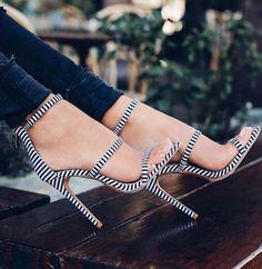 Open Toe Strap Stiletto Sandals