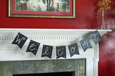 Why hello there. Come on in. #chalkboard #banner | www.rappsodyinrooms.com