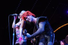 Jen and Graham Ayers sing a little ditty at Big Top Rock: Dream On (photo credit: Bob Suh)