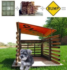 recycled parts dog house