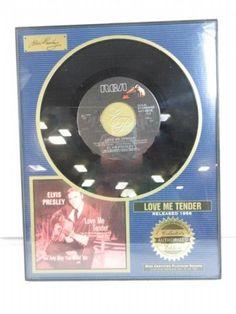 Elvis Presley limited framed 45 Love me tender