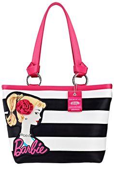 Barbie doll Fuschia tote bag with handle