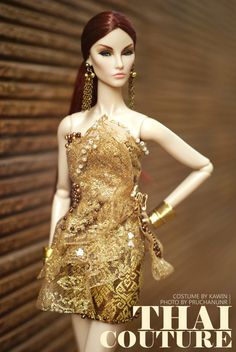 Thai Couture Dress for Fashion Royalty, Silkstone Barbie