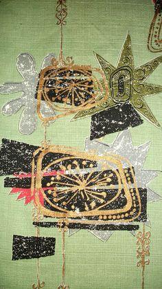 Abstract Barkcloth Fabric