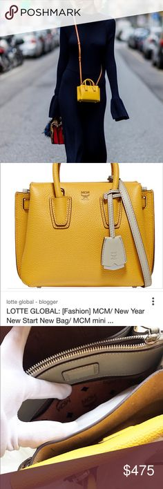 MCM mini Milla crossbody bag $700 This is a continued listing for MCM milla bag Attention: This is the Asia special color, see Seoul fashion reporter news on picture. you may see different color, some lighter, some darker, some come with different shoulder straps, different color accessories. It doesn't mean this is a bad bag. This style is very flexible and depends on the size, selling location and product year, there are many different varieties of this bag. This is an authentic item! MCM…
