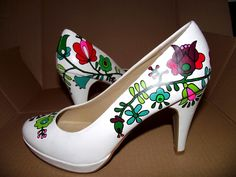 Shoes - Hungarian style Folk Embroidery, My Heritage, Pumps, Heels, Beautiful Gowns, Hungary, Budapest, New Fashion, Roots