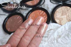 Anastasia BEverly HillsNEW 2015 illuminators highlighters swatches peach nectar so hollywood and Riviera