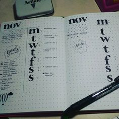 """22 Likes, 1 Comments - Nadja (@nadjaventures) on Instagram: """"Last week and this upcoming week's layouts  I was inspired by @inkbyjeng  I am loving having just…"""""""