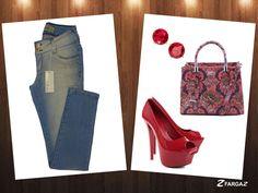 Saiba combinar sem errar! A Fargaz traz dicas especiais para vocês, mulheres. A cor do dia é o vermelho para combinar perfeitamente com Cigarrete Jeans Fargaz! Apostem! <3