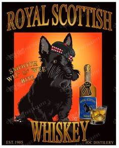 Scottish Terrier  Print 8X10 Comical Dog by DigitalDeviations, $45.00