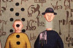 "Dettaglio opera in mostra ""Grisha Bruskin. Alefbet: alfabeto della memoria"". #grishabruskin #querinistampalia #exhibition #russianart #contemporaryart"