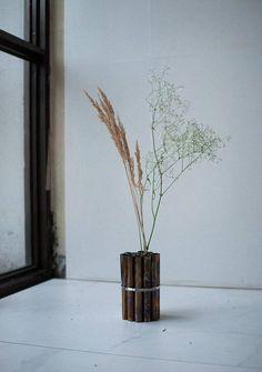 Modern flower vase dried flowers vase metal vase steel
