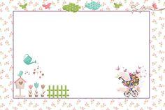 Convites para imprimir - Tema Jardim Encantado - Dicas pra Mamãe