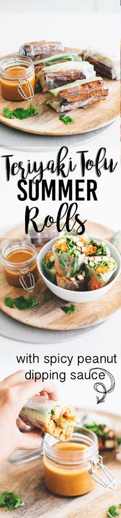 Vegan Teriyaki Tofu Summer Rolls: a healthy, light and low carb Asian inspired dish.  {Vegan | Dairy-free | Vegetarian}