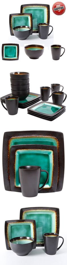 Dinner Service Sets 36032: Kitchen Dining Set 16-Piece Dinnerware Plates Bowls Dishes Cup Round Turquoise -> BUY IT NOW ONLY: $60.06 on eBay!