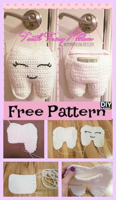 Crochet Tooth Fairy Pillow- Free Pattern 2019 Crochet Tooth Fairy Pillow- Free Pattern The post Crochet Tooth Fairy Pillow- Free Pattern 2019 appeared first on Pillow Diy. Crochet Pillow Patterns Free, Crochet Toys Patterns, Crochet Dolls, Free Pattern, Crochet Gifts, Cute Crochet, Crochet For Kids, Crochet Fairy, Tooth Pillow
