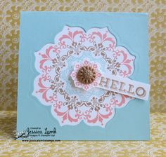 Daydream Medallions stamp set hello card