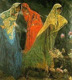 BijouxNoir - indigodreams: José Villegas Cordero (1844-1921)  The Three Graces