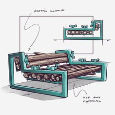 YD Spotlight: Nicholas Baker's Chair Sketch Challenge Furniture Makeover, Diy Furniture, Furniture Design, Furniture Projects, Light Colored Wood, Industrial Design Sketch, Woodworking Jobs, Deco Design, Sketch Design