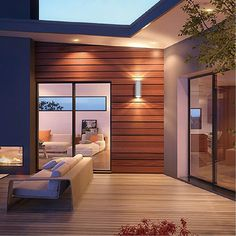 Eurofase Led Outdoor Up & Downlight Sconce Luxury Homes Interior, Interior Exterior, Exterior Design, Home Interior Design, Modern Outdoor Wall Lighting, Outdoor Sconces, Outdoor Walls, Melbourne, Modern Patio