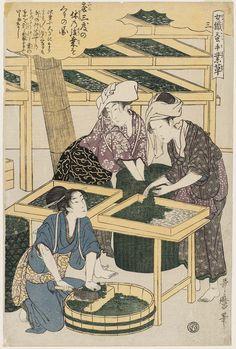 Utamaro_No. 3 from the series Women Engaged in the Sericulture Industry (Joshoku kaiko tewaza-gusa)