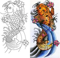 Japanese Koi Fish Tattoo..Getting this on my foot tomorrow:)))))