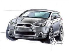 Mitsubishi ASX Design Sketch.