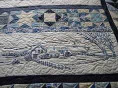Jenny's Doodling Needle: November 2010...Over the River and Thru the Woods by Crab Apple Hill....done in blue...gorgeous and the quilting is great