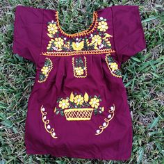 New Mexican dress for girls! Very cute! Cotton blend fresh fabric with silk…