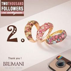 THANK YOU!!!!! 2.000 Followers! #brumani #2.000 #followers #instagram #instajewel #instafashion #instagold #loveyou #likes #jewelry #gold #diamonds #naturalstones #rings #brumanijewelry