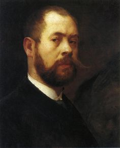 Lovis Corinth (German, 1858-1925) Self Portrait, 1887-88, oil on canvas, 52 cm (20.47 in) - 43.5 cm (17.13 in), Private collection.