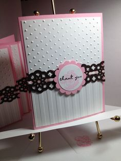 A set of 6 baby cards to tuck in with a baby gift.  Pretty in Pink and Early Expresso.  **Photo only
