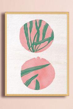 Pink Circles Wall Art | Anthropologie